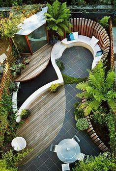 Lovely designed for such a small garden