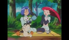 They eat and meowth is exersizing