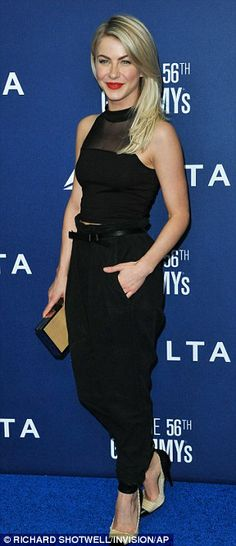 Chic and elegant: Earlier in the evening, Julianne arrived at the Delta Airlines kick off Grammy weekend reception where she heard a private...