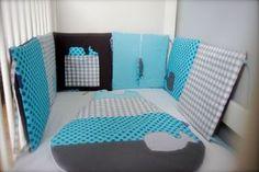 Tour de lit en turquoise