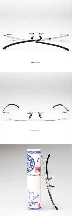 Retro pencil case Reading Glasses Men Women Portable Spectacles Hyperopia Frameless Reader Eyeglass Eyewear 1.5 2.0 2.5 3.0 3.5