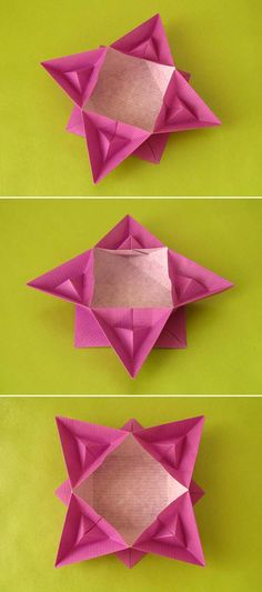Origami: Scatola piramidata - Box with pyramids. Designed and folded by Francesco Guarnieri, June 2015.