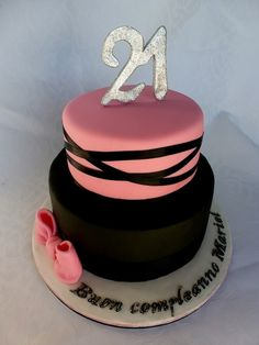 Brilliant Photo of 21 Birthday Cake . 21 Birthday Cake Pink And Black Birthday Cake Cakecentral 21st Birthday Cupcakes, 21st Birthday Cake For Girls, Round Birthday Cakes, White Birthday Cakes, 21st Cake, Birthday Cake Pictures, 18th Birthday Cake, Birthday Cake With Candles, Birthday Cake Toppers