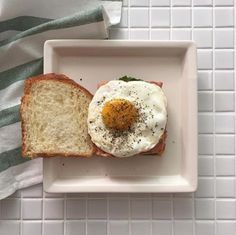 breakfast plate // fried egg toast // pinterest @softcoffee