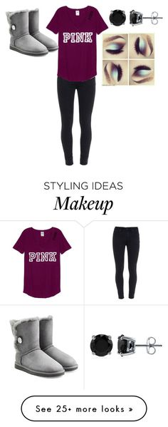 """date with the babe!"" by destinyatwell-creepypasta on Polyvore featuring Paige Denim, BERRICLE and UGG Australia"