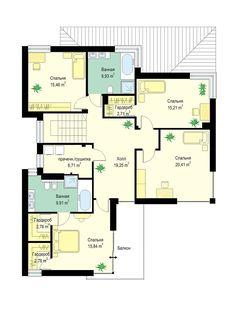 Светлый двухэтажный коттедж с большим гаражом и террасой S8-240-2 (Ривьера 5). План 2. Shop-project Floor Plans, Projects, Log Projects, Blue Prints, Floor Plan Drawing, House Floor Plans