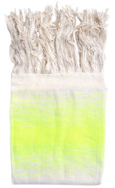 Fluoro Fringe Throw