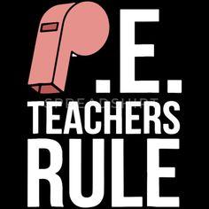 e4a9eb8d pe teachers rule funny school gym class gym teache Men's T-Shirt - black
