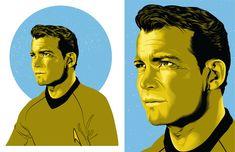Love how vibrant this is. Very cool! #StarTrek #Kirk