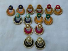 To order, pls what's app on 9492991857 Silk Thread Earrings Designs, Silk Thread Bangles Design, Silk Thread Necklace, Silk Bangles, Thread Jewellery, Quilling Earrings, Quilling Jewelry, Silk Thread Jumkas, Terracotta Jewellery