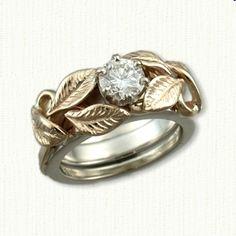Leaves & Vines Reverse Cradle Engagement Rings - custom celtic engagement rings with gemstones, diamonds @ best prices!