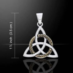 Braided Celtic Knot TRIQUETRA Pendant .925 Silver 18k Gold GODDESS Irish Trinity Jewelry