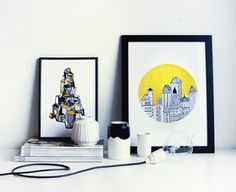 City in the yellow - A4 poster