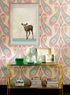 WOW absolutely love this #wallpaper! Perfect accent wall for a girls Bedroom----For the perfect wallpaper call Concept Candie Interiors--www.conceptcandie.com-wallpaper
