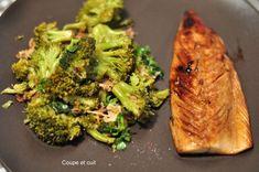 Maquereaux laqués et poêlée de brocolis à l'asiatique