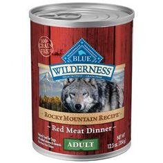 Blue Buffalo Blue Wilderness Grain Free Rocky Mountain Recipe Red Meat Dinner Canned Dog Food 12125oz *** Visit the image link more details. (Note:Amazon affiliate link)
