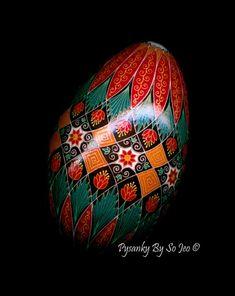 Made To Order: Fall Floral Pysanka Batik Egg Art EBSQ Plus