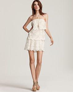 Gryphon Strapless Lace Romantic Dress $495