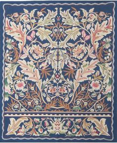 Woven in Belgium History: Acanthus III Belgian Tapestry is inspired by the work of well known painter and artist William Morris from the period 1875. Acanthus I
