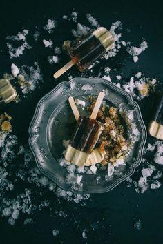 Irish coffee ice pops