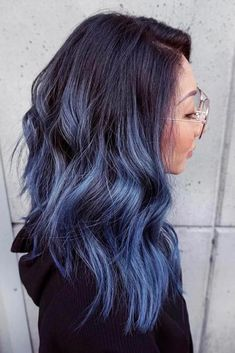 hair highlights blue 30 Trendy Styles For Blue Ombre Hair - The latest and greatest styles ideas - T. 30 Trendy Styles For Blue Ombre Hair - The latest and greatest styles ideas - The latest and greatest styles ideas Cute Hair Colors, Ombre Hair Color, Hair Color Balayage, Cool Hair Color, Blue Ombre, Blue Hombre Hair, Subtle Hair Color, Hair Highlights, Haircolor