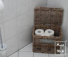 Rotan wasmand \'At Home\' Hetmandenhuys.nl | Badkamer | Pinterest