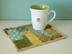 Scrappy Mug Rug | Flickr - Photo Sharing!