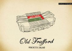 Old Trafford, Manchester Football Gif, Football Stadiums, Santiago Bernabeu, Football Pictures, Old Trafford, Man United, Manchester United, Type 3, Artworks