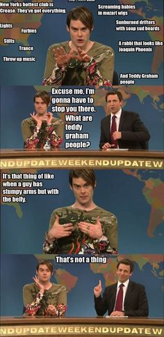 so there is absolutely nothing on the planet that makes me happier or makes me laugh more or more genuinely than Stefon on SNL. seriously, nothing in the world.