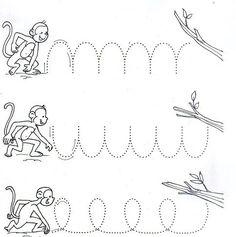 Anasınıfı Yol Bulma Çizgi Çalışmaları - Okul Öncesi Etkinlik Faliyetleri - Madamteacher.com Rainforest Crafts, Rainforest Theme, Rainforest Animals, Animal Worksheets, Preschool Worksheets, Preschool Activities, Tracing Worksheets, Five Little Monkeys, Reading Tutoring
