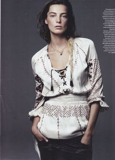 Daria Werbowy in Vogue Ukraine    rackk and ruin