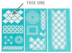 sarah m. dorsey designs: Stenciled Moroccan Table