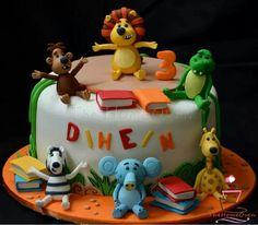 Ra Ra the noisy lion themed birthday cake