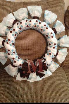 Mason's diaper wreath