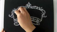 黒板とチョークだけでもインテリアになるチョークアートの描き方。 大人黒板②(Chalk Art : blackboard:chalkboard)