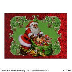 Christmas Santa Holiday glass cutting board  http://www.zazzle.com/christmas_santa_holiday_glass_cutting_board-256575059919581902?view=113647098931440303&rf=238588924226571373