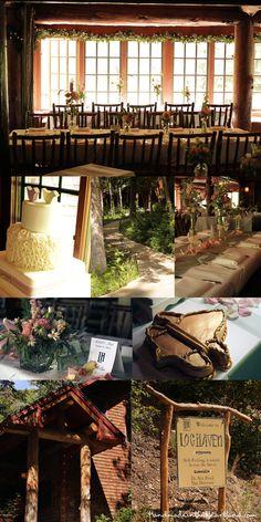 I like how tucked away it is- Log Haven Wedding