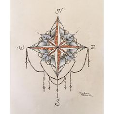 Compass mandala by jrizzybabbyxoxo on Etsy