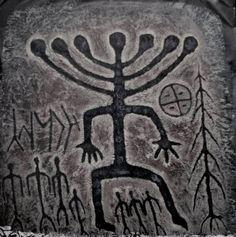 Petroglyphs from Siberia Ancient Symbols, Ancient Aliens, Ancient Artifacts, Arte Tribal, Tribal Art, Art Pariétal, Paleolithic Art, Objets Antiques, Cave Drawings