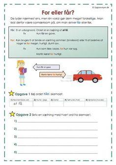 For eller får? Family Planner, Cooperative Learning, Bullet Journal Inspiration, School Days, Playground, Sprog, Language, Teacher, Classroom