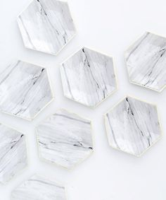 Carrara Marble Party Plates
