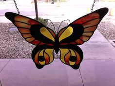Stained glass butterfly with fused elements
