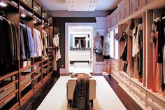 his and hers walk-in closet!