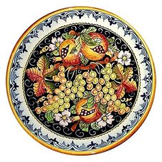 CERAMICHE D'ARTE PARRINI - Italian Ceramic Serving Bowl Centerpieces Art Pottery Dishware Made in ITALY Tuscan * You can find out more details at the link of the image. (Amazon affiliate link)