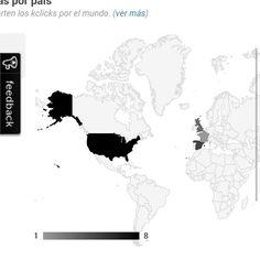 Países que alcanzan mis publicaciones