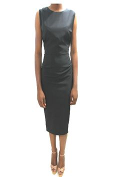 kimberly-fitted-dress-black (3000-10)  #EVEANDTRIBE  #AfricanFashion #NigerianFashion #BuyNigerian   Available at http://lespacebylpm.com/