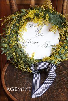 ミモザのウェルカムリース |Mimosa wreath | AGEMINI