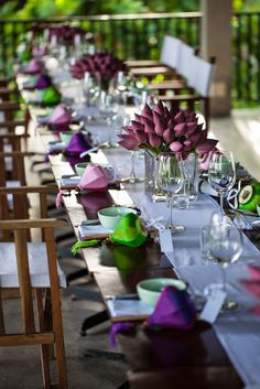 Wedding reception ideas: Colour adds a personal touch to your chosen wedding venue. #HoiAnEventsWeddings #HoiAn #VietnamBeachWeddings