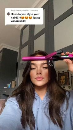 Curling Iron Curls, Curling Iron Tutorial, Hair Tips Video, Hair Videos, Easy Hairstyles For Long Hair, Girl Hairstyles, Hair Inspo, Hair Inspiration, Hair Up Styles