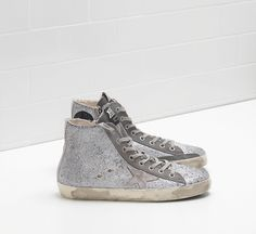 promo code 10bb6 c7708 805 Women s Francy in Suede Silver Sale - Golden Goose Deluxe Brand Sneakers  zapatos salon outlet internet discount sale